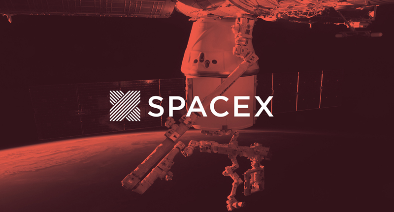 A SpaceX rebrand designed by a graphic design student