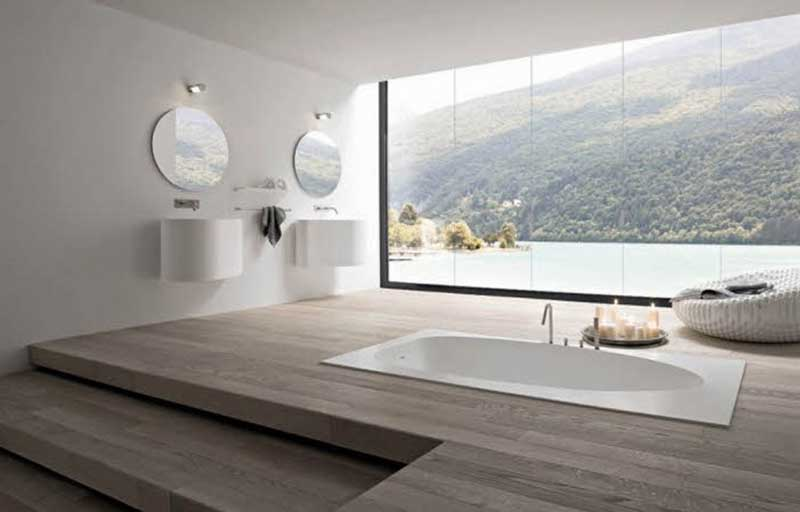 Nice So if you are rich and own a huge land with a lake please do yourself a favor and get a bathroom window like this