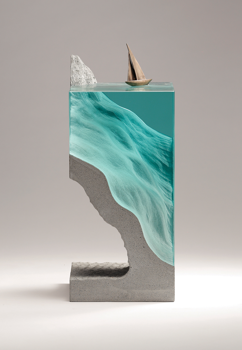 Spectacular sculptures made of glass and concrete by Ben Young