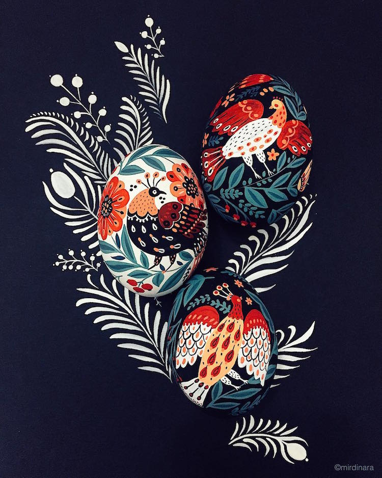 The wonderful illustrated Easter eggs of Dinara Mirtalipova