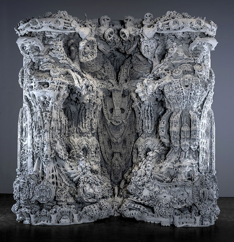 A 3D printed grotto generated with an algorithm