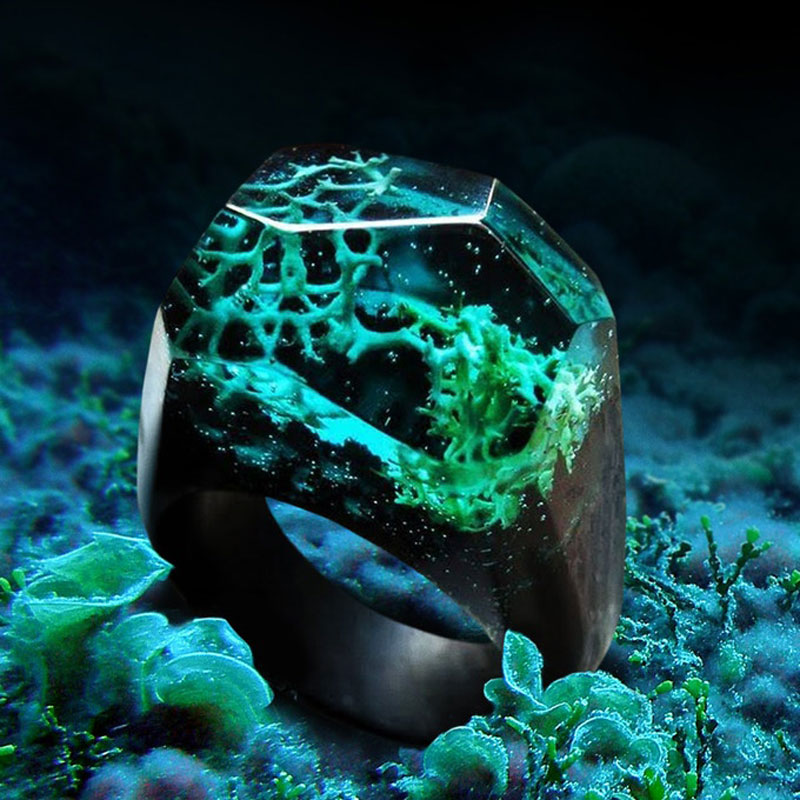 Gorgeous Wood And Resin Rings by Enchanted Soul