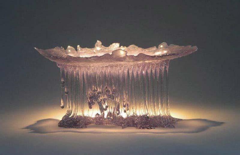 Daniela Forti Creates Incredible Glass Jellyfish Tables