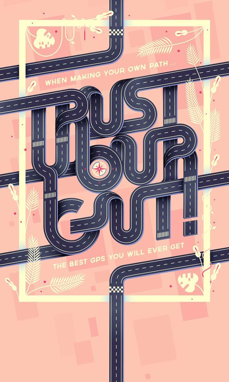 Typography and lettering inspiration collection