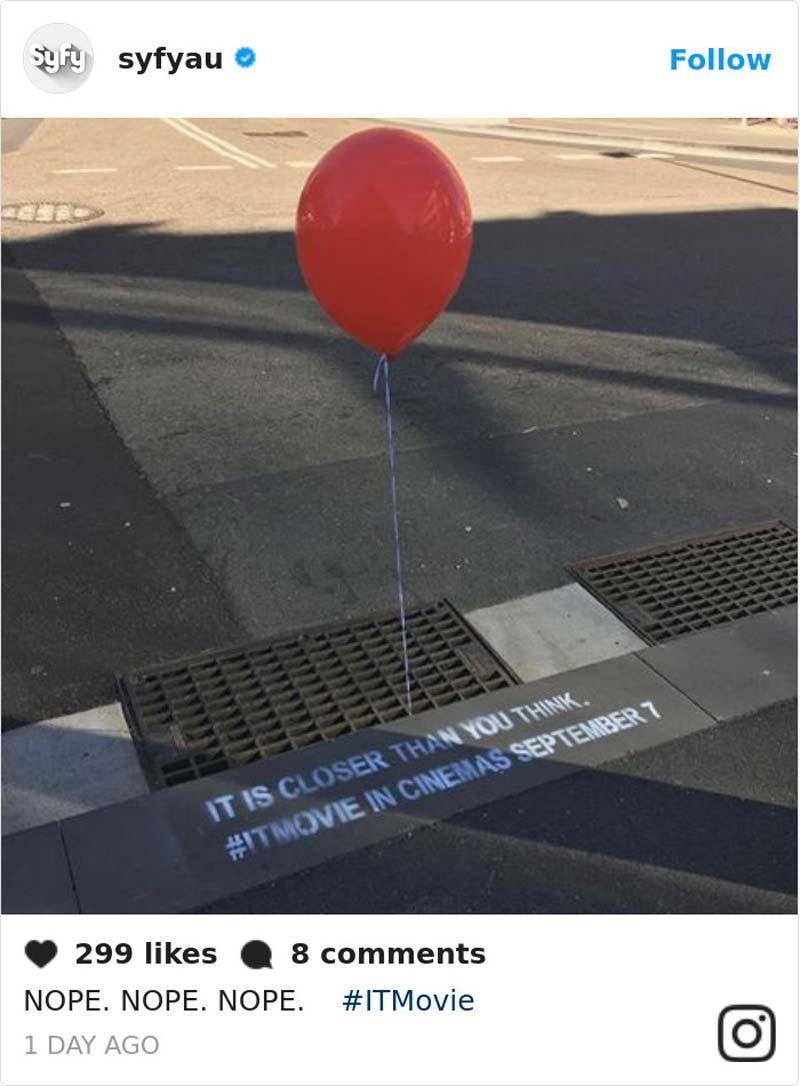 Creepy and brilliant street marketing campaign for the movie IT