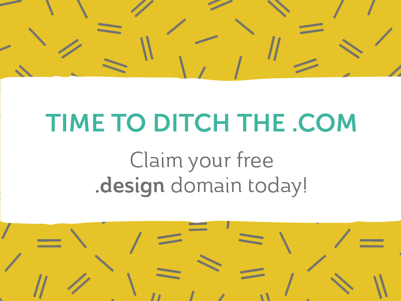 Time to get your free .design domain