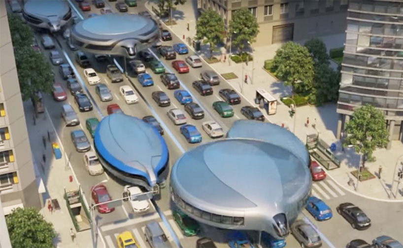 A look at a gyroscopic public transportation concept