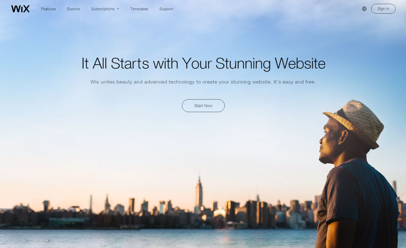Should you use a free website builder like Wix to establish a presence online?