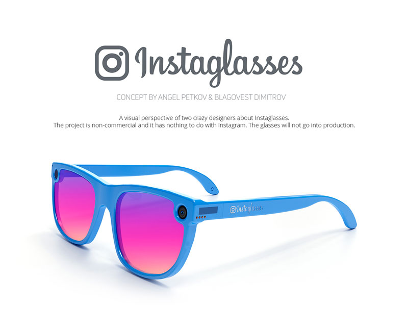 Instaglasses: a concept project for Instagram glasses