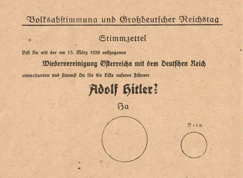 How nazis designed a referendum form