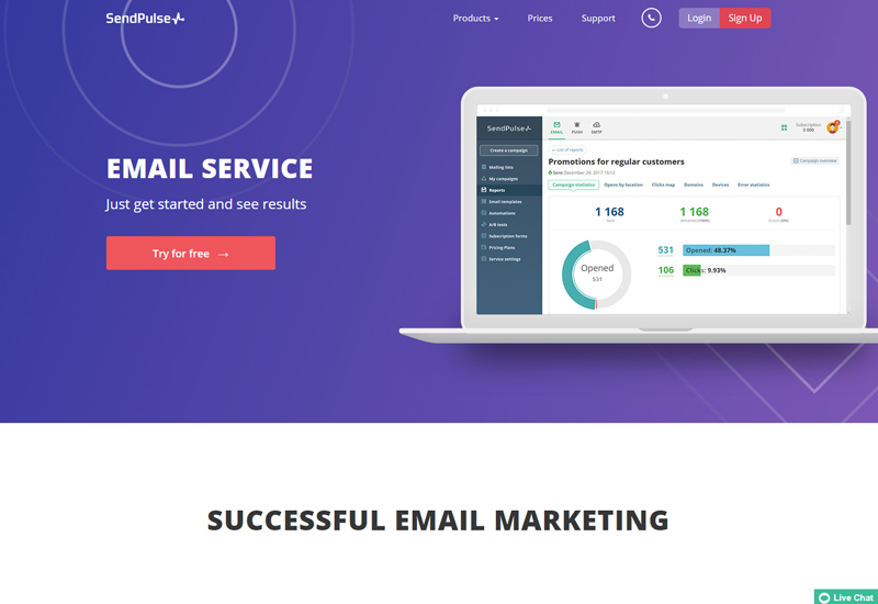 Send bulk email the right way with SendPulse