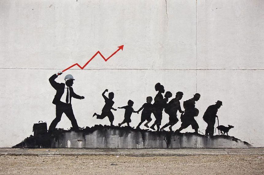 Banksy is in New York, take a look at his new work