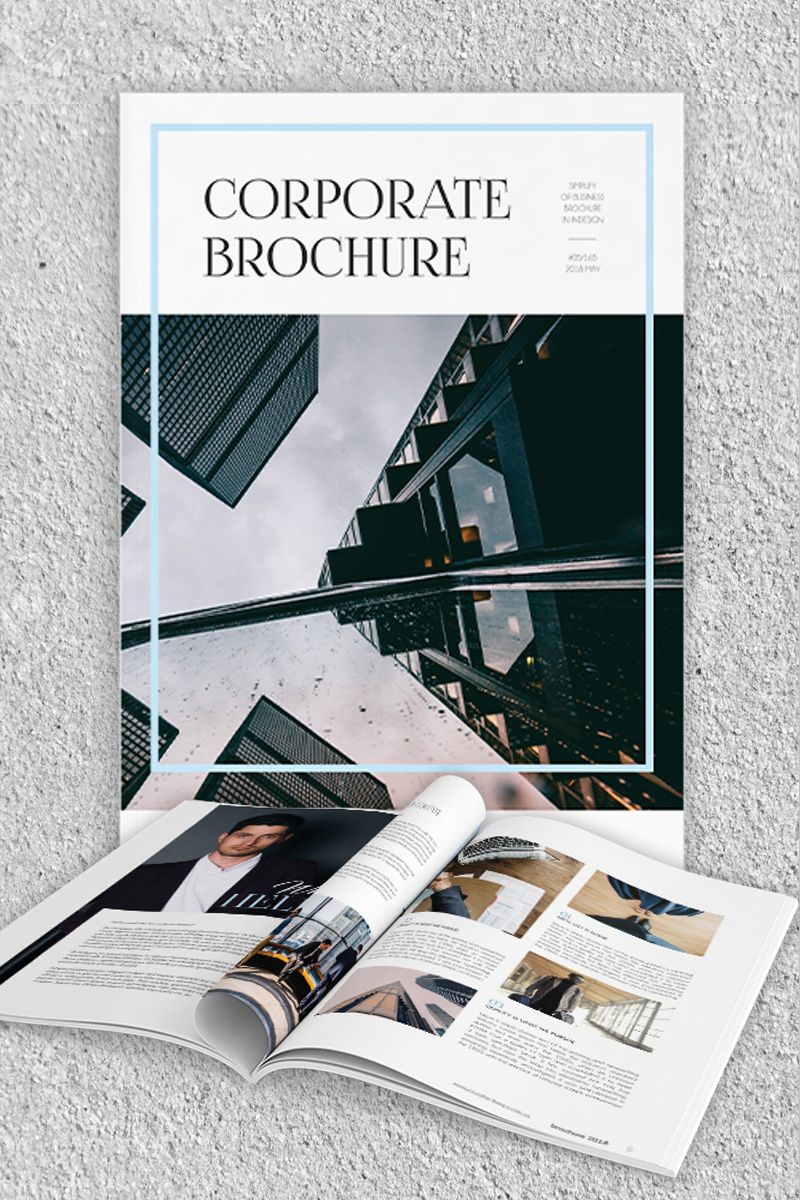Freebie: inDesign template of a 10 pages corporate brochure