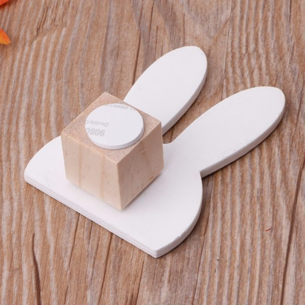 Cute Bunny Rabbit Wooden Hook Clothes Hooks On Wall Decorate Kids Children Room ECO Friendly Wall Hanger Hooks White 4