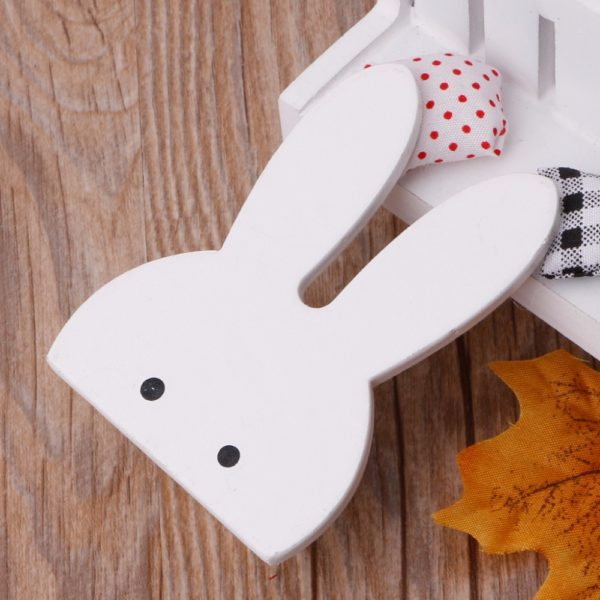 Cute Bunny Rabbit Wooden Hook Clothes Hooks On Wall Decorate Kids Children Room ECO Friendly Wall Hanger Hooks White 3