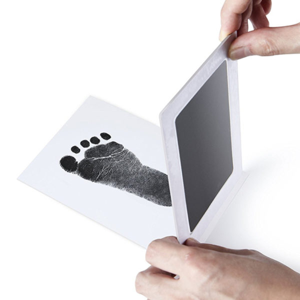 1/2Pcs Newborn Baby Handprint Footprint Inkless Touch Non-Toxic Ink Pad DIY Photo Frame Girl/Boy Infant Baby Gift decoration 1