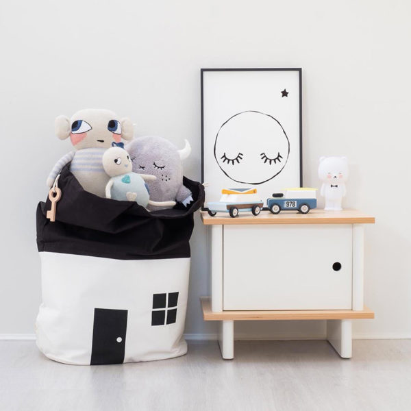Baby play mat Cute House Storage Bag Large Capacity Children Kids Baby Pure Cotton Canvas Toys Beam Port Pouch Organizador -30 2