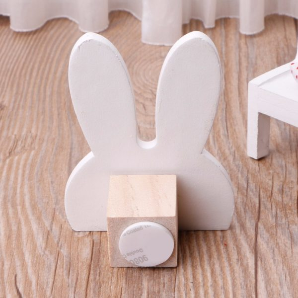 Cute Bunny Rabbit Wooden Hook Clothes Hooks On Wall Decorate Kids Children Room ECO Friendly Wall Hanger Hooks White 2