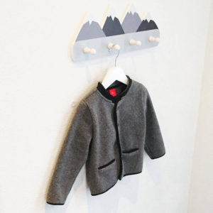 Nordic Style Wooden Mountain Kids Coat Rack Geometric Mountain Art Shelf For Clothes 4 Hook of 1piece Kids Room Decor Idea Gift