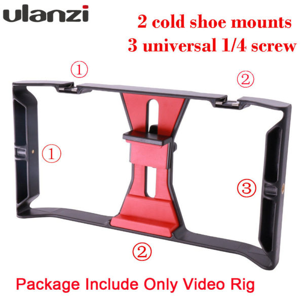 Ulanzi Handheld Smartphone Video Rig Case for iPhone X Samsung,Phone Rig Stabilizer for Live stream Youtube Filmmaking Vlogger  1