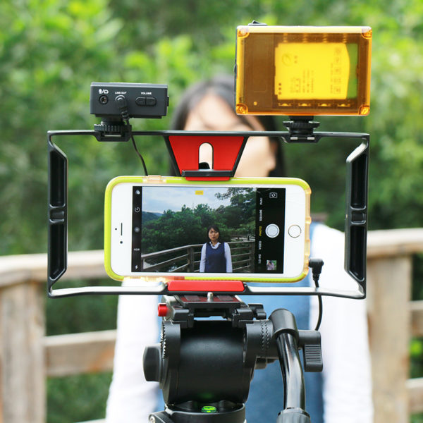Ulanzi Handheld Smartphone Video Rig Case for iPhone X Samsung,Phone Rig Stabilizer for Live stream Youtube Filmmaking Vlogger  4