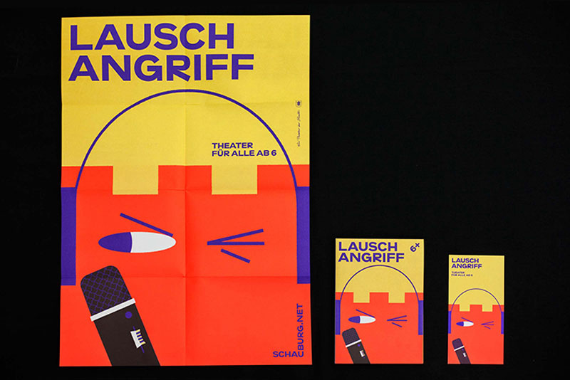 Colorful graphic identity for youth theatre Schauburg