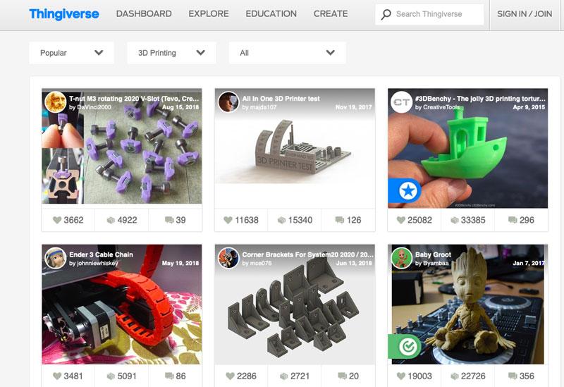 5 websites to find free 3D models for 3D printing