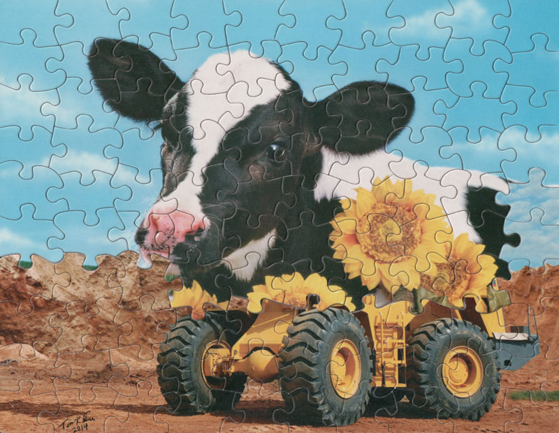 Tim Klein mixes Puzzle Pieces to create Surreal Artworks