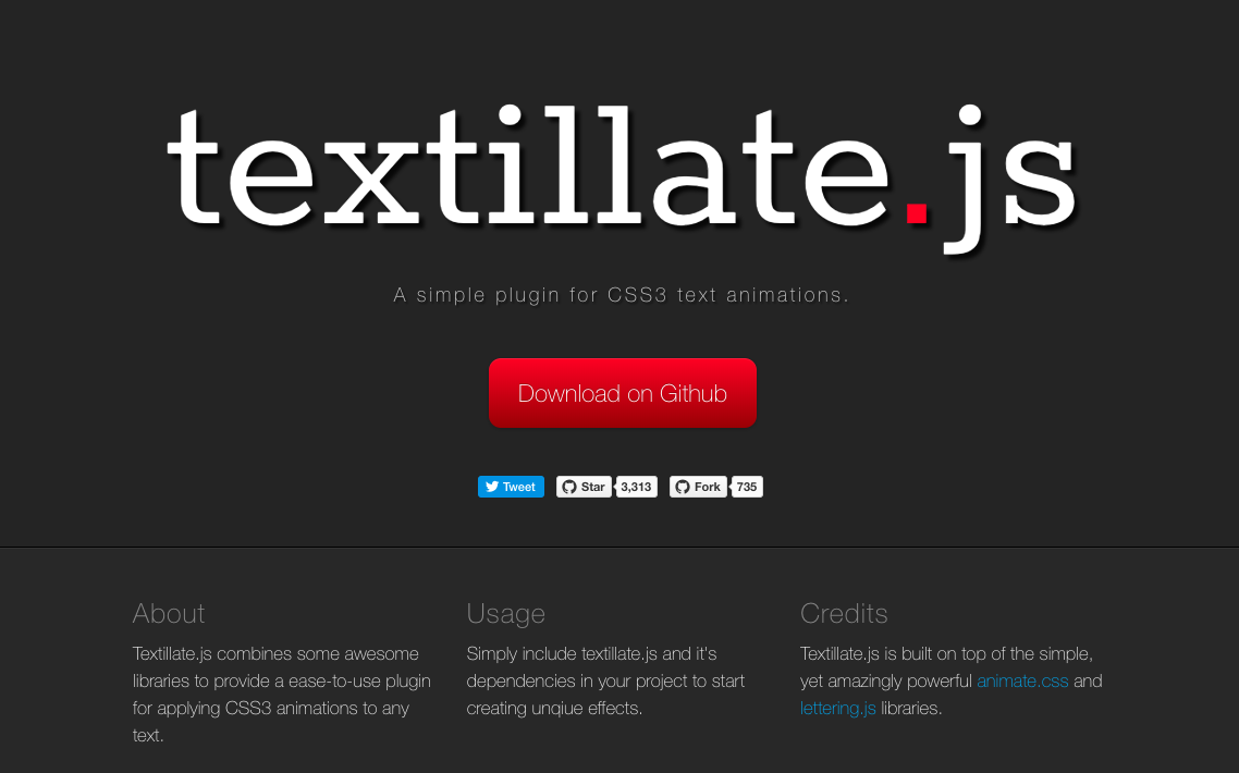 8 useful text effect plugins for jQuery