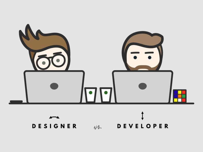 Should you choose to be a web designer or a web developer?