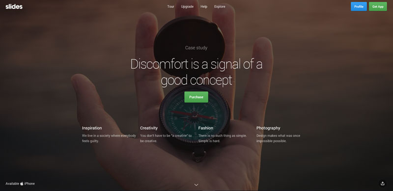Free Download: One-Page Horizontal Scroll Website Template