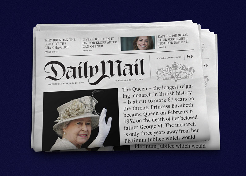 What if Tabloids were Designed Like Serious Newspapers? A Concept Rebranding of the Daily Mail