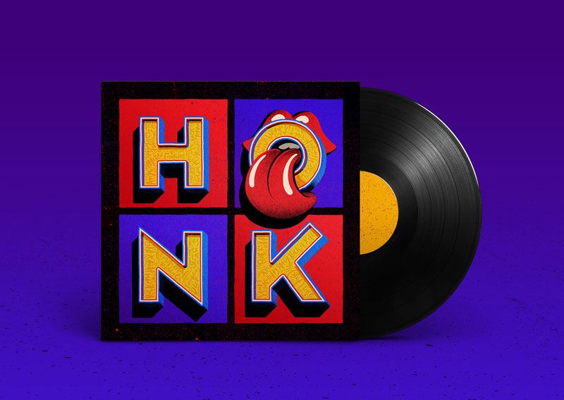 HONK: Cover Art by Tobias Hall for the Rolling Stones Latest