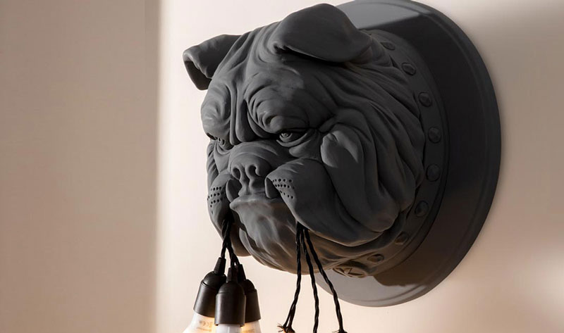 Spectacular Bulldog Lamp Designed by Matteo Ugolini