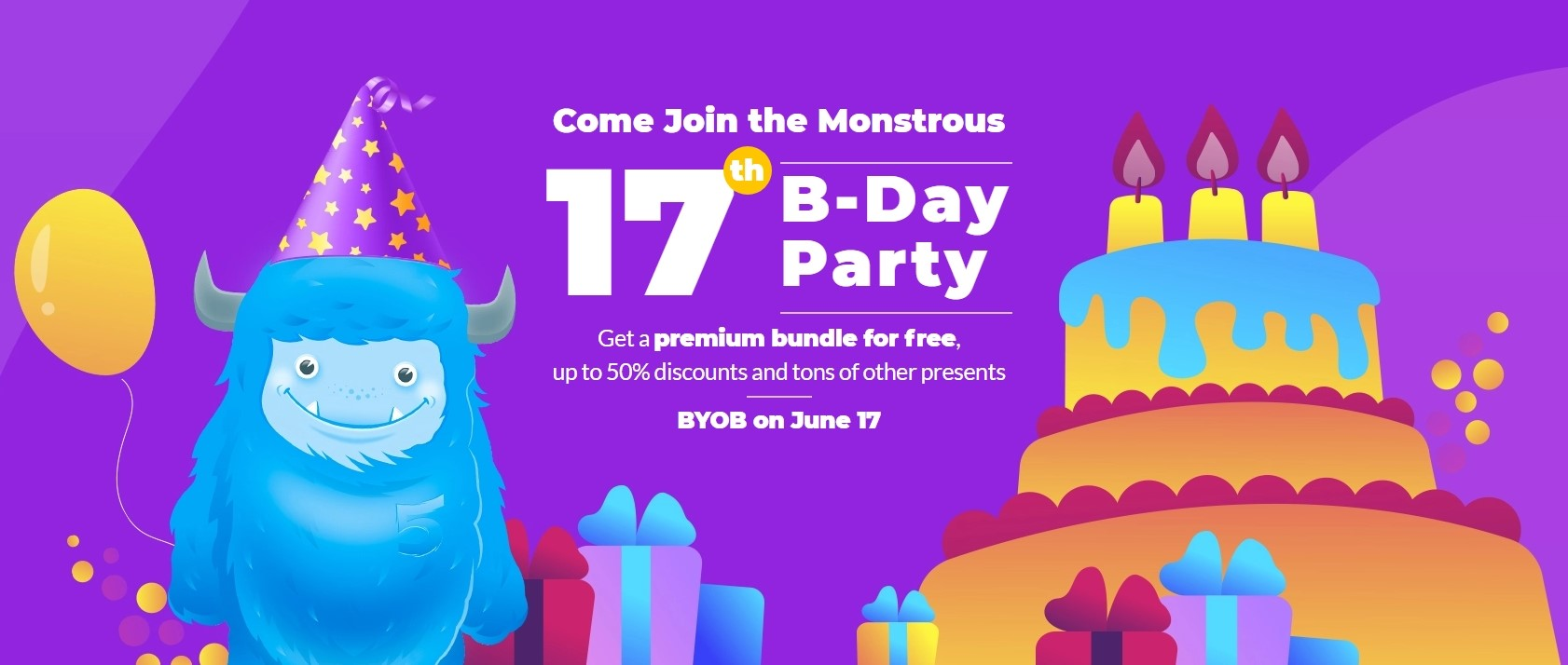 Celebrate Monstrous Party and Get Presents