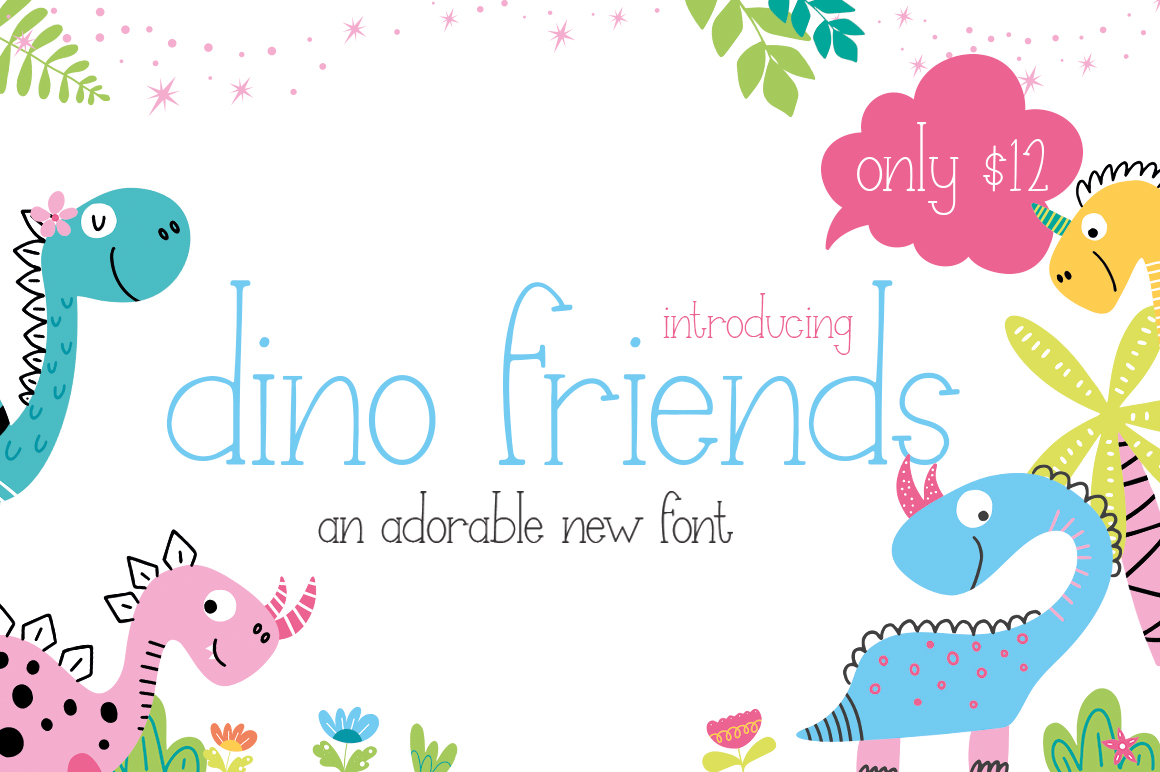 Exclusive Freebie: Dino Friends Font