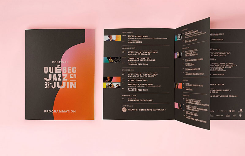 The Colorful and Distorted Visual Identity of Québec Jazz Festival