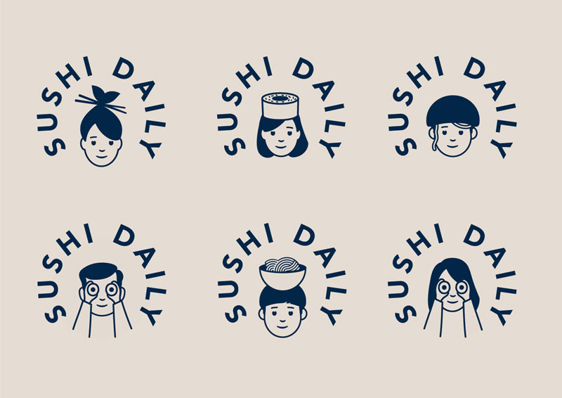 Cute Branding for European Sushi Kiosks