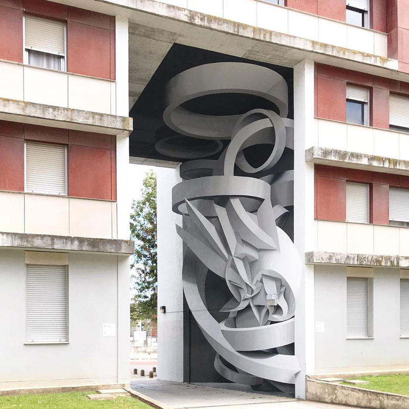 Peeta's Amazing 3D Optical Illusions on Buildings