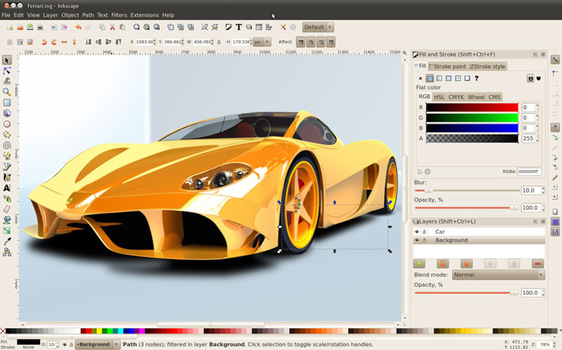 inkscape ui - نرم افزارهای گرافیکی جایگزین نرم افزارهای ادوب