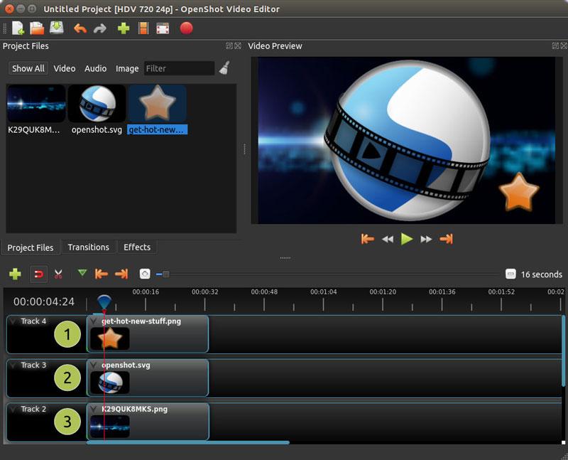 openshot ui - نرم افزارهای گرافیکی جایگزین نرم افزارهای ادوب