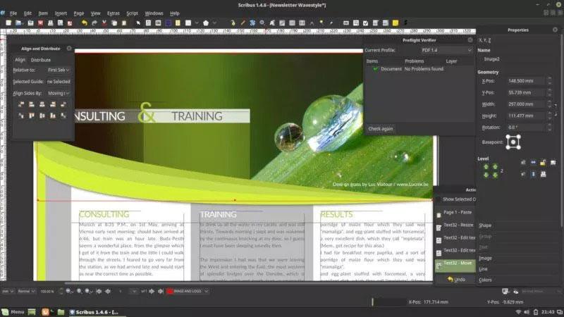 scribus ui - نرم افزارهای گرافیکی جایگزین نرم افزارهای ادوب