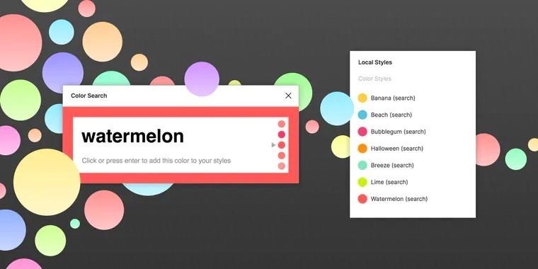 A Figma Plugin that Allows you to Search Colors by Name