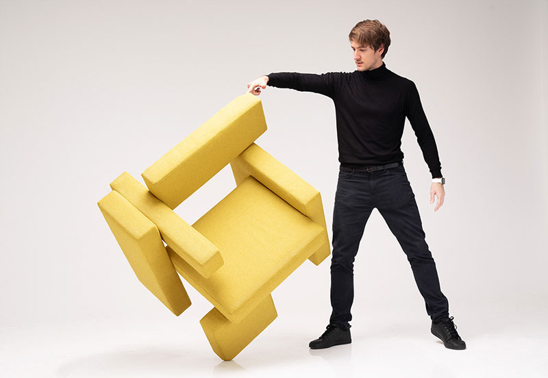 Yellow Brick Chair by Sivak+Partners