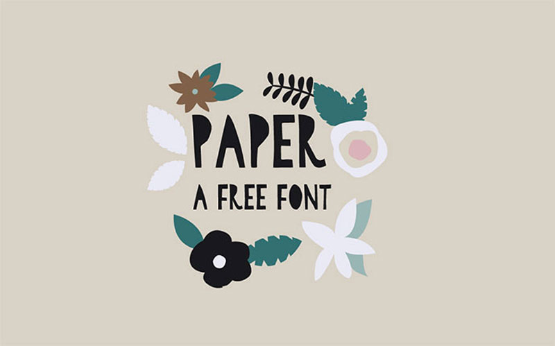 10 Useful Paper Cut-Out Fonts