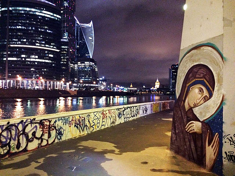 This Moscow Artist Creates Graffiti of Orthodox Icons
