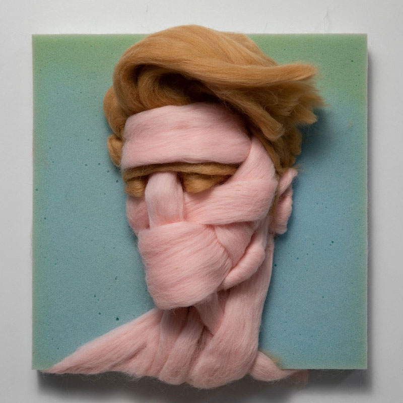 The Intriguing Wool Portraits by Salman Khoshroo