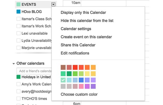 Google Calendar tips and extensions for designers