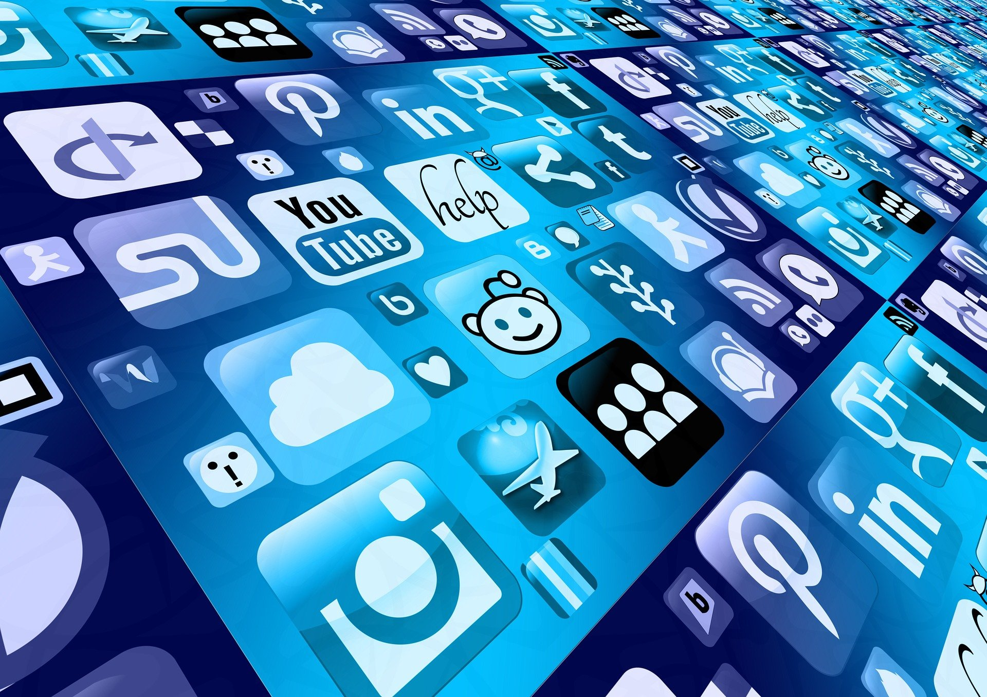 Icons for apps and social networks
