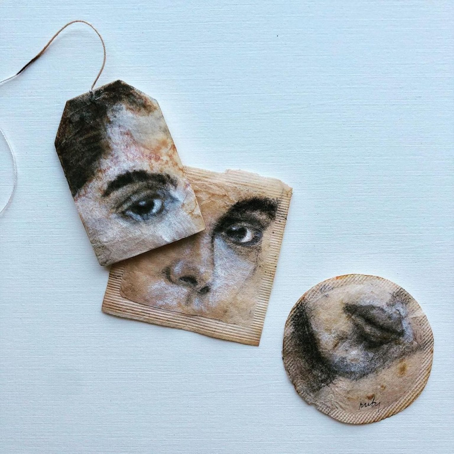 Art With Tea Bags By Ruby Silvious